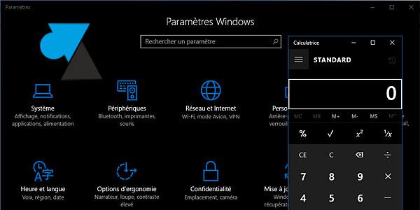 tutoriel Windows 10 activer theme foncé noir dark mode
