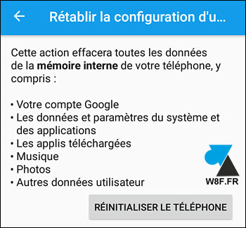 tutoriel reset Sony Xperia smartphone tablette telephone