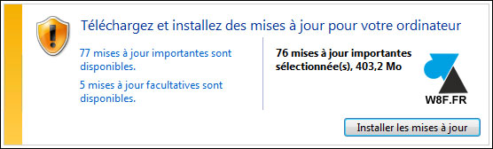 Windows 7 Windows Update W7 bug erreur