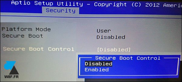 Bios UEFI Asus Secure Boot Control Disabled Enabled