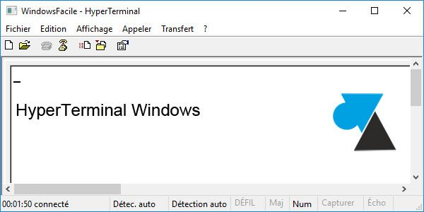 HyperTerminal sur Windows 10
