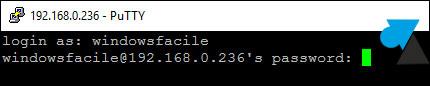 tutoriel terminal Windows putty SSH Ubuntu Debian Linux