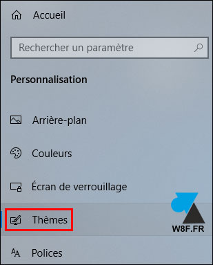 tutoriel Windows 10 parametres themes