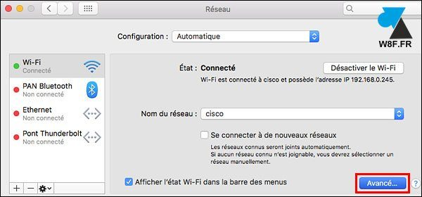 tutoriel Mac macOS configurer proxy internet navigateur Safari