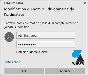 tutoriel renommer pc windows domaine active directory