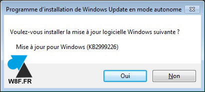 tutoriel telecharger installer Windows KB2999226