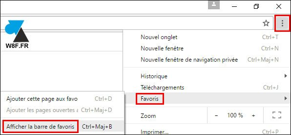 tutoriel Google Chrome ajouter favori internet