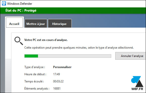 tutoriel Windows 10 Defender analyse antivirus