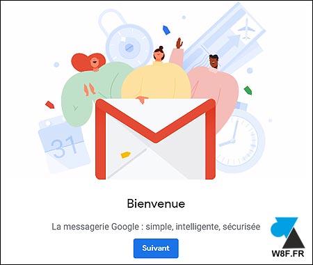 gmail bienvenue