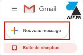 Nouveau message mail Gmail