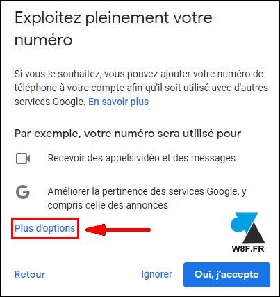 tutoriel création gmail compte boite google options