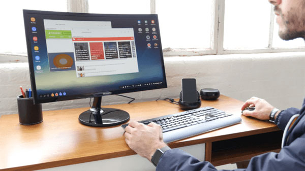 Samsung DeX station accueil smartphone PC