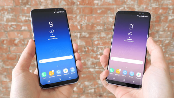 photo smartphone Samsung Galaxy S8 plus vs S7