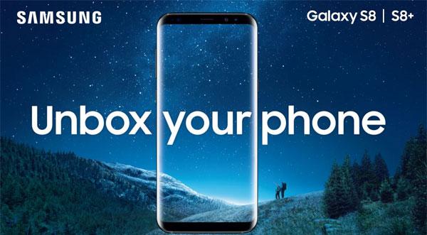 photo smartphone Samsung Galaxy S8 plus
