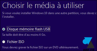 tutoriel créer clé USB installation Windows 10 Creators Update