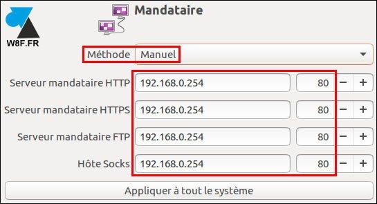 tutoriel Linux Ubuntu réseau serveur mandataire proxy internet