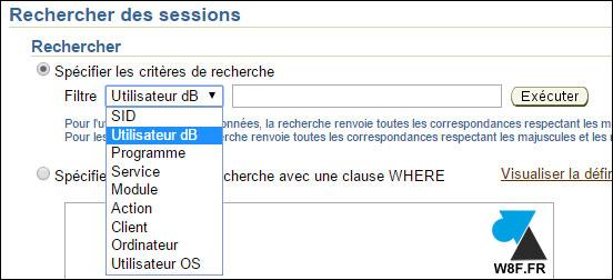 tutoriel Oracle 11g fermer session utilisateur base BDD