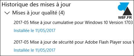 tutoriel Windows 10 Update mise a jour historique