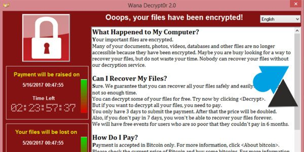 Télécharger la protection contre WannaCry pour Windows XP