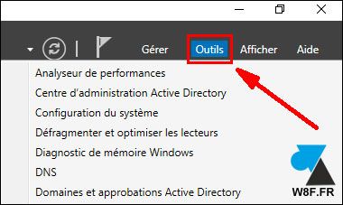 tutoriel Windows Server 2016 WS2016 Outils administration