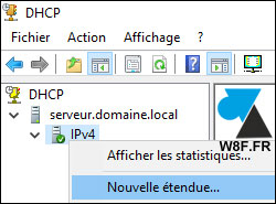 tutoriel Windows Server 2016 WS2016 serveur DHCP