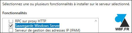 tutoriel logiciel sauvegarde Windows Server 2016