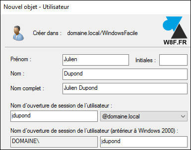 tutoriel Windows Server 2016 WS2016 Active Directory users utilisateurs OU