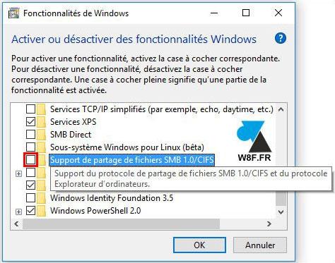 partage smb Windows