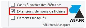 tutoriel Windows 10 afficher extension noms fichiers