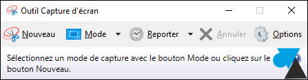tutoriel outil capture écran Windows 10