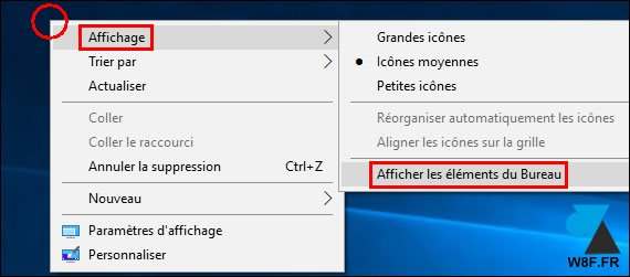 tutoriel Windows 10 remettre icones bureau