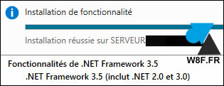 tutoriel Windows Server 2016 R2 installer NET Framework 3.5 3.0 2.0