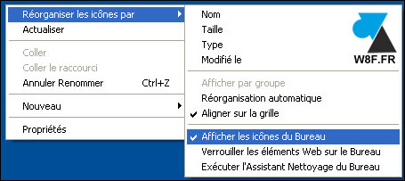 Faire disparaitre toutes les ic nes du bureau de windows - Icone bureau disparu windows 7 ...