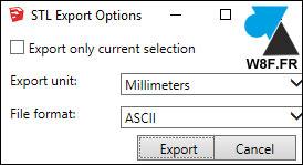 tutoriel export exporter fichier STL SketchUp