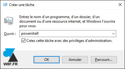 tutoriel exécuter PowerShell Windows 10
