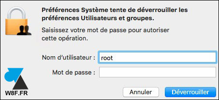macOS root acces administrateur