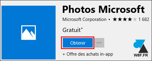 tutoriel Windows 10 installer Photos application