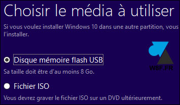 tutoriel télécharger installation Windows 10 Fall Creators Update 1709 cle USB