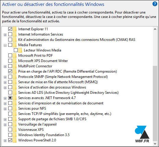 tutoriel Windows 10 activer desactiver fonctionnalité