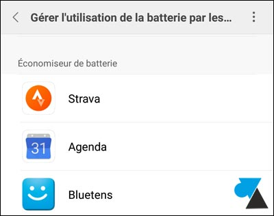 tutoriel smartphone Xiaomi Mi batterie application