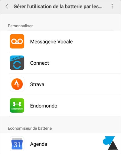 tutoriel smartphone Xiaomi Mi batterie application