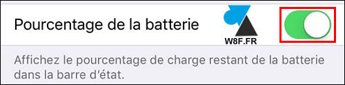 tutoriel iPhone iPad iOS afficher pourcentage batterie