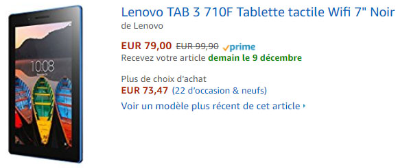 tablette Lenovo Tab 7