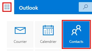 Contacts Outlook webmail