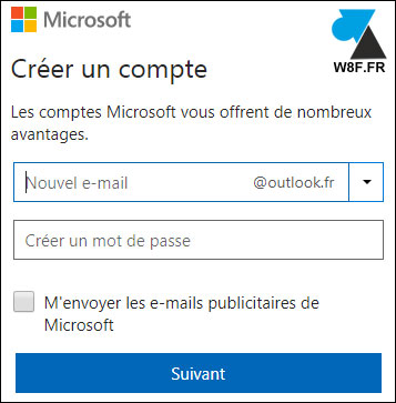 cr er une adresse mail outlook un compte microsoft pour windows. Black Bedroom Furniture Sets. Home Design Ideas