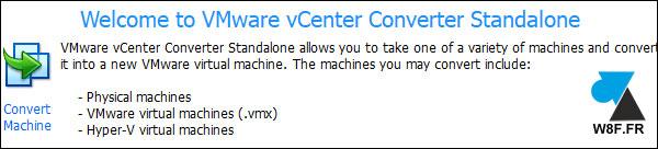 tutoriel vmware converter standalone client