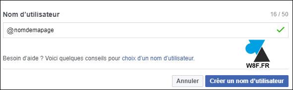 tutoriel changer nom page Facebook