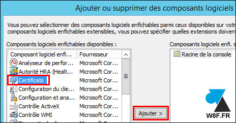 tutoriel Windows Server console MMC certificat