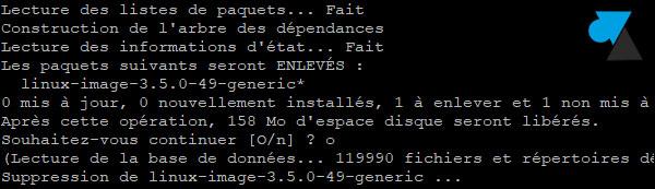 tutoriel Ubuntu supprimer kernel