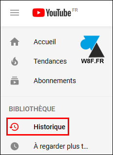 tutoriel historique video YouTube